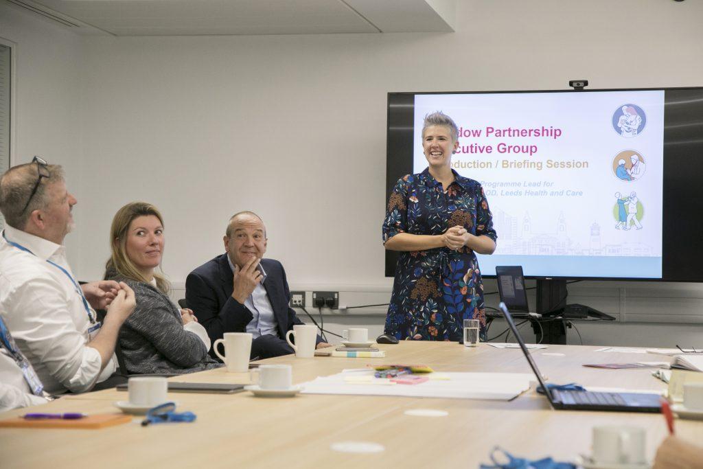 Kirstie Stott of the ILN in a Shadow Board meeting